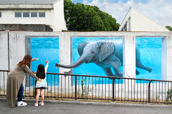 見てビックリ、撮って遊べる「3Dアート動物園」